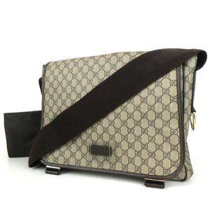 Auth Gucci Gg Crossbody Bag Brown #5033G29